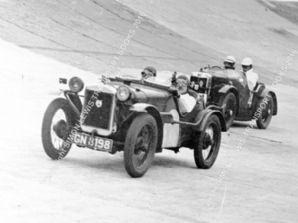 AUSTIN 7 TT Hon Victoria Worsley at speed Brooklands 1931